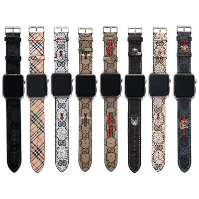 Luxury Leather Fashion Strap Watch Band Bracelet For Apple iWatch Series 5/4/3