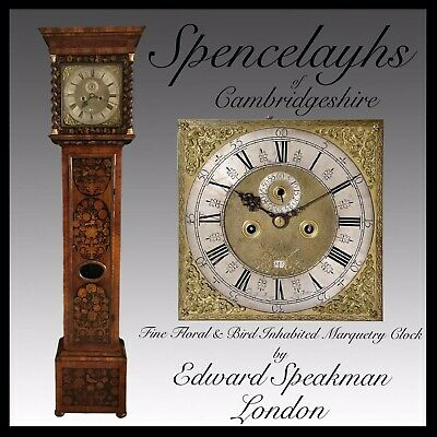 Walnut Bird and Flower Floral Marquetry 8 day Longcase Clock Edward Speakman