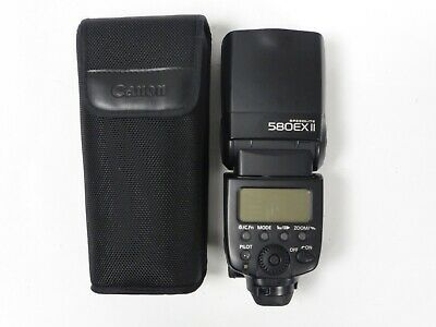 Canon Speedlite 580EX II Flashgun Flash with Case - Mint Minus Condition
