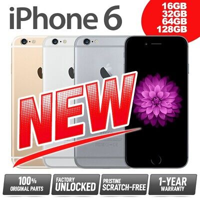 (NEW) Factory Unlocked SIM-Free APPLE iPhone 6 16 32 64 128GB Gold Silver Grey