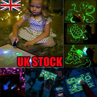 Light Up Drawing Fluorescent Magic Writing Board Kit Kids Fun And Developing Toy
