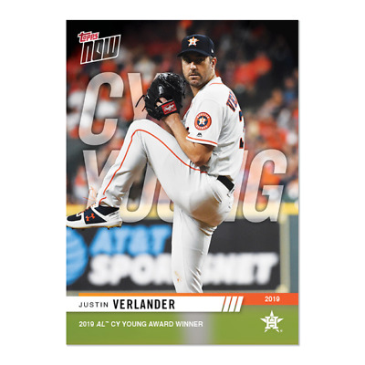 2019 Topps Now #AW-5 Justin Verlander ~ Wins Cy Young ~ Houston Astros ~ SP 522