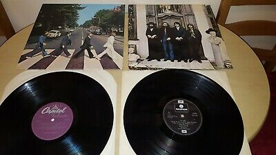 The Beatles Lp Records Hey Jude Pcs 7184 & Abbey Road So 383