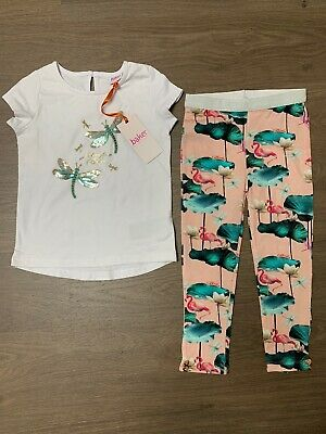 New Ted Baker Girls Outfit Set Top And Leggings Size 4-5 Years