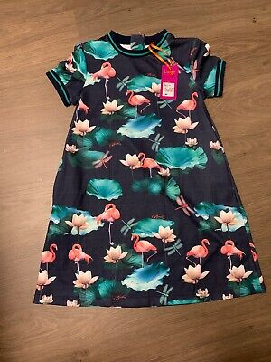 New Ted Baker Girls Flamingo Sporty Dress Size 9-10 Years