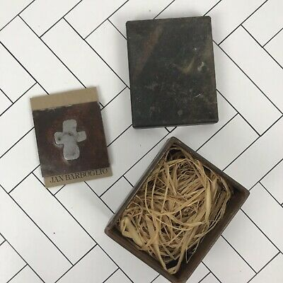 Jan Barboglio Cast/Forged Iron Trinket Box With House Blessing Cross Metal Card