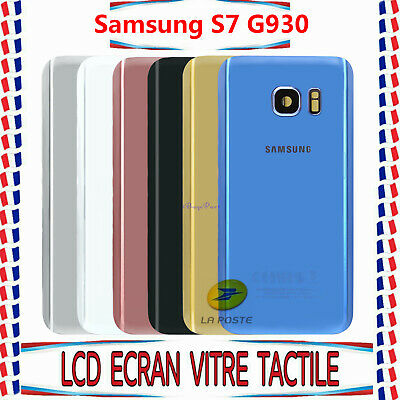 Vitre Arriere Cache Batterie Pour Samsung Galaxy S7 G930+Adhesif+Logo+Camera