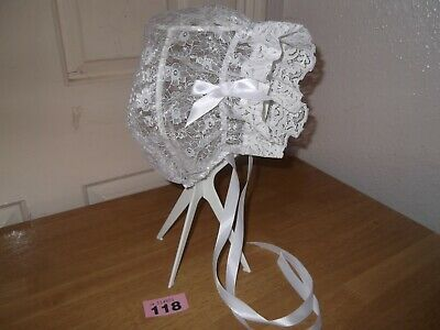Sissy~Maids~Adult Baby~Tv/Cd~Unisex Lace Fabric & Lace Trimmed Bonnet