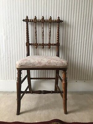 Antique Victorian Bobbin Turned Chair