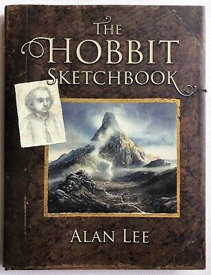 Alan Lee The Hobbit Sketchbook Signed Uk 1St Edition Hardcover Autographed