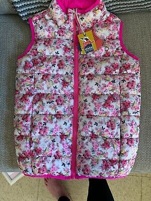 Joules Girls Pink Floral Gilet Body warmer Age 9-10 BNWT