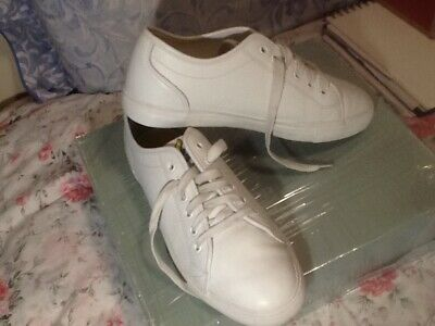 Men's Lyle And Scott Halket Leather Trainers In White Size uk 8 ( 42 )