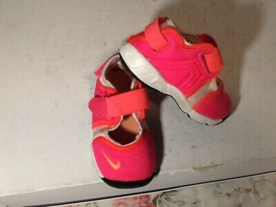 Nike LITTLE RIFT TD 311549 601 Baby Girls Shoes Pink Summer Trainers