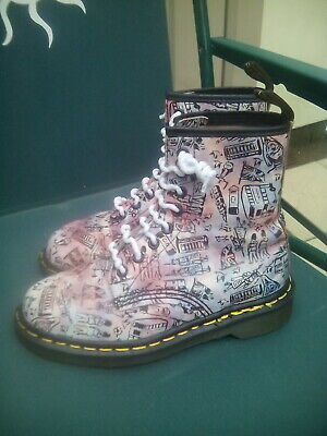 Dr Martens Vintage Made in England Rare London Icon Pattern Size 3 uk