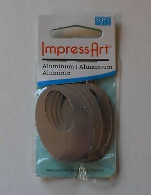 NEW! ImpressArt Aluminium 50 x 32mm OFFSET WASHER WITH HOLE - Blanks 6 PIECES