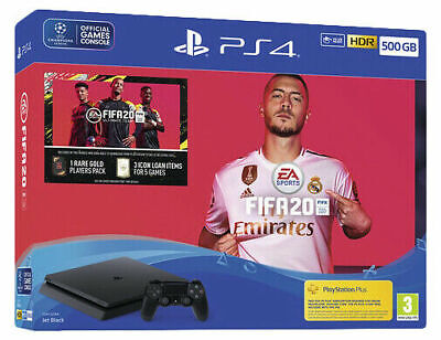 Sony PlayStation 4 500GB FIFA 20 Bundle - Jet Black