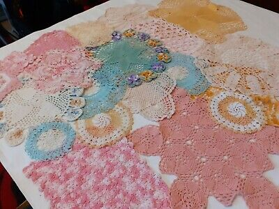 20 Color Vintage Crochet Doilies For Weddings/Christenings/Crafts.