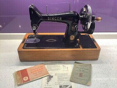 Semi-Industrial Singer 99K Sewing Machine, Hand Cranked, Sews Leather, Working