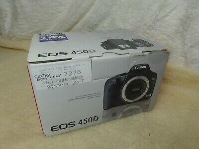 Canon EOS 450D Digital SLR Camera Body - Charger, Stap, boxed