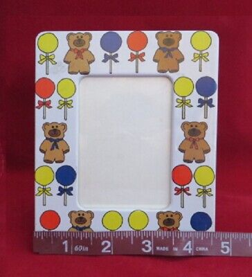 Vintage Tailored Tiles Baby Bear Balloon Photo Frame Nursery Infant Redwood CA