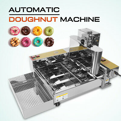 Stainless Steel Commercial Automatic Donut Machine Temperature Adjustable 4 Rows