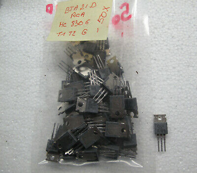Lot of 50 Triacs BTA21D RCA , Condition: New