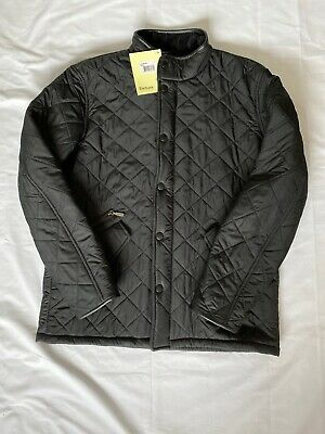 Brand New With Tags BARBOUR Mens Powell Black  Quilted Jacket! Large! RRP £159!