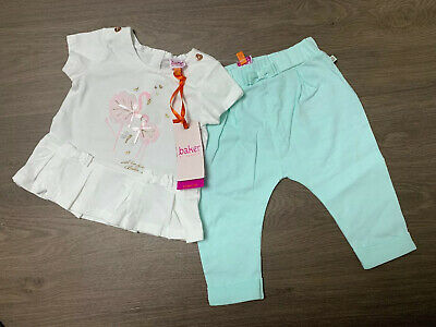 New Ted Baker Flamingo Baby Girls 2pcs Outfit Top And Trousers Size 3-6 Months
