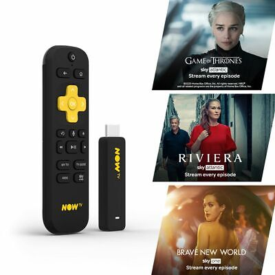 NOW TV Smart Stick with 1 month Entertainment Pass PRE-INSTALLED