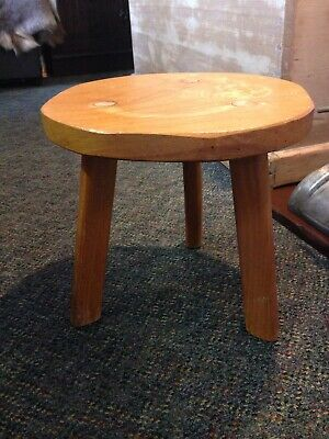 Vintage Three Legged Milking Stool 1940'S Bought From The Original Owner/Maker