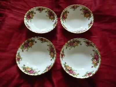 """4X  ROYAL ALBERT OLD COUNTRY ROSES 16cm 6"""" CEREAL /DESSERT BOWLS FREE POST"""