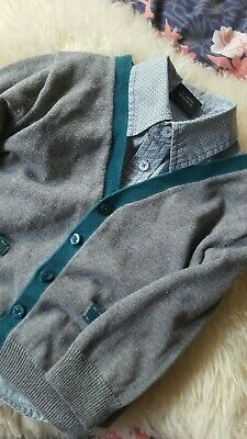 ☆ Baby Boy Next Outfit Shirt Cardigan 12-18 Months ☆