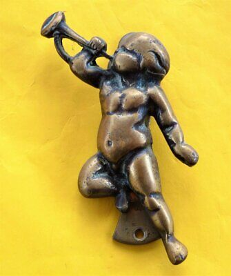 Antique Vintage solid brass cherub door knocker ~ Heavy quality