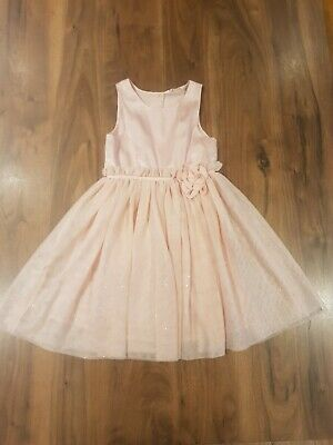 Girls Sparkly Baby Pink Party Dress Age 5-6 Years