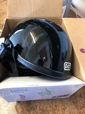 """skid lid motorcycle helmet quick release snap """"brand new condition"""""""