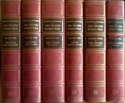 "Winston S Churchill 'The Second World War'  6 vols ""Chartwell"" Edition nd 1955"