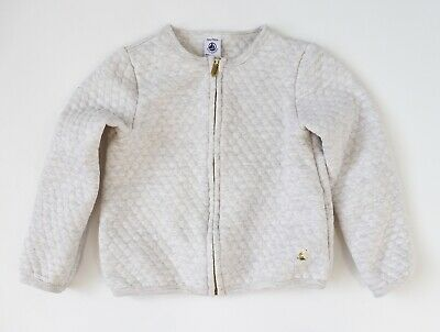Petit Bateau Girls Quilted Cardigan / Jacket - 5 years