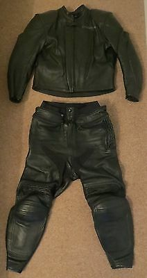 CROWTREE 2 Piece Motorcycle Leathers (Chest 40/42, Waist 34/36)