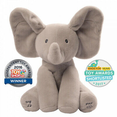 Peek-a-boo Elephant Baby Pal Animated Flappy The Elephant Music Plush Toy NEW