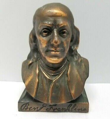 Ben Franklin Copper Bank COIN Insurance Agency LIFE Bust Cool Vintage