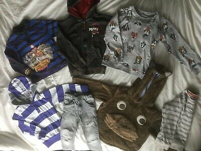 Bundle Boys Clothes  -  Age 5-6 Years   Tops, Hoodies, Jeans