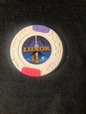 Old $1 LUXOR Hotel Casino Poker Chip Vintage House Mold Las Vegas NV 2010
