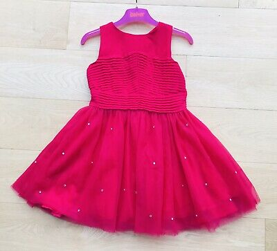 TED BAKER GIRLS Stunning PINK TULLE Xmas Party Designer DRESS 4-5 YEAR Fast Post