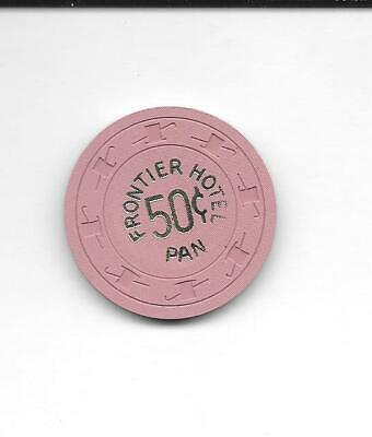 Casino Chip .50 FRONTIER Hotel Casino Las Vegas Lavender PAN 1960's Issue NEW