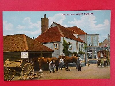 Great Clacton -The village blacksmith & Queen's Head, late19th century-unposted