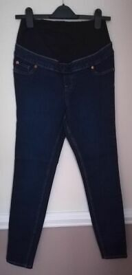 New - New Look Emilee Over Bump Jeggings Maternity Pimlico Blue Uk10 Leg 32