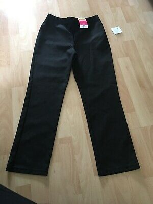 Girls Black School Trousers BNWT Age 10-11 From George