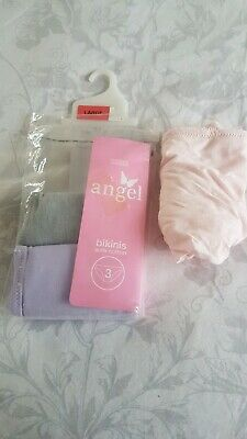 Girls 3 Pack Bikini Knickers From Angel At Marks And Spencer Size Large