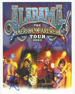 Alabama  8 x 10 Autograph Reprint  Country Music Group Tennessee River Roll On