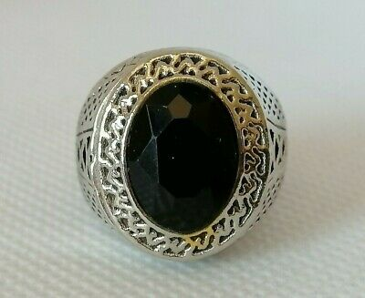 Rare Ancient Roman Ring Metal Authentic Silver Color with Beautiful Stone